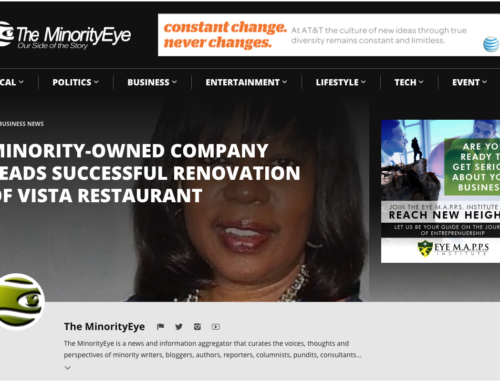 In the News: City Bar and Fondue Restaurant Renovation Project (The Minority Eye)